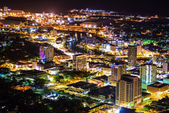 Townsville par nuit Photographie stock libre de droits