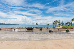 Townsville Rock Pool on The Strand being cleaned Stock Images