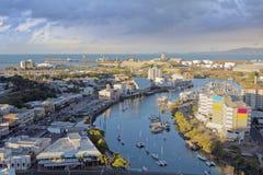 Townsville w wieczór Zdjęcia Royalty Free