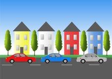 towntrafik vektor illustrationer
