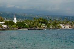 Townview von Kailua Kona stockfoto