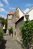 Townwalls Walk. You can walk around the old town of Freinsheim in the Palatine area of Germany always following the old town walls that are still there after so Stock Photos
