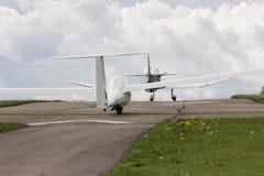 towplane avec commencer de planeur Images stock