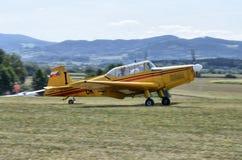 Towplane landing royalty free stock images