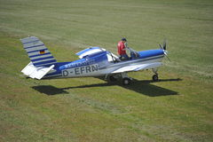 Towplane Rallye Morane Imágenes de archivo libres de regalías