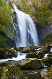 Toxa waterfall, Silleda, Pontevedra, Spain. The fall of the River Toxa in Silleda, Pontevedra, Spain Royalty Free Stock Images