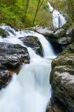 Toxa waterfall, Silleda, Pontevedra, Spain. The fall of the River Toxa in Silleda, Pontevedra, Spain Stock Image
