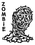 Toxic воскрешенный от мертвого зомби также вектор иллюстрации притяжки corel Стоковые Фото