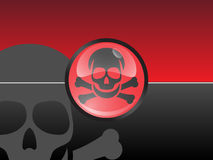 Toxic. Sign button at the background Stock Photos