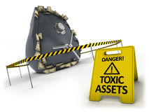 Toxic assets concept Royalty Free Stock Photos