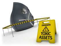 Toxic assets concept Stock Image