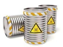 Toxic barrel. On white background stock illustration
