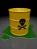 Toxic barrel Royalty Free Stock Image