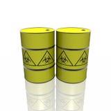 Toxic barrel with biohazard symbol Stock Image