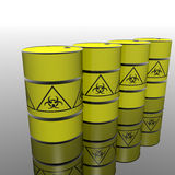 Toxic barrel with biohazard symbol Stock Image