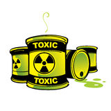 Toxic Barrels Stock Photos