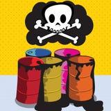 Toxic barrels stock image