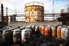 Toxic barrels Stock Photography