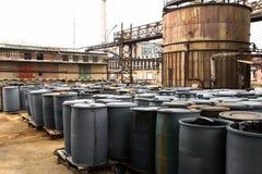 Toxic barrels Royalty Free Stock Images