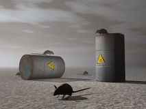 Toxic barrels - 3D render Stock Images
