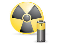 Toxic battery Stock Photography