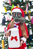 Toxic christmas - environmental concept Stock Photography