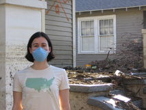 Toxic City. Me, in New Orleans after Hurricane Katrina stock images