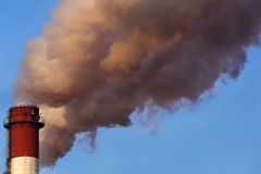 Toxic cloud from industrial chimney Royalty Free Stock Photo