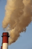 Toxic cloud from industrial chimney Royalty Free Stock Image