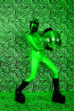Toxic disco girl in night vision effect Royalty Free Stock Photography