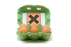 Toxic eggs Stock Images