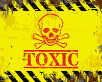 Toxic Enamel Sign Royalty Free Stock Images
