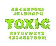 Free Toxic Font. Green Liquid ABC. Acid Typography. Radiation Alphabet. Poison Letters Royalty Free Stock Image - 76856026