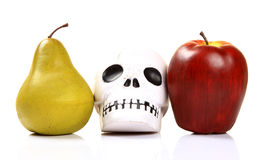 Toxic fruits. Concept image with message beware of toxic fruits stock photos