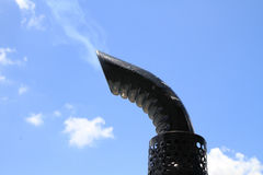 Toxic gases from the exhaust. Stock Photos