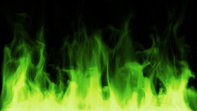 Toxic green fire