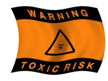 Toxic hazard flag Royalty Free Stock Photography