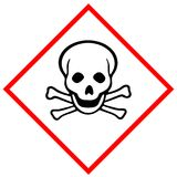 Toxic hazard pictogram Stock Image