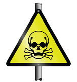 Toxic hazard sign Stock Photos