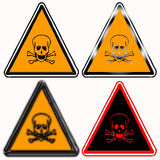 Toxic hazard warning signs Royalty Free Stock Photo