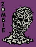 Toxic head of zombie. Vector illustration. Stock Photos