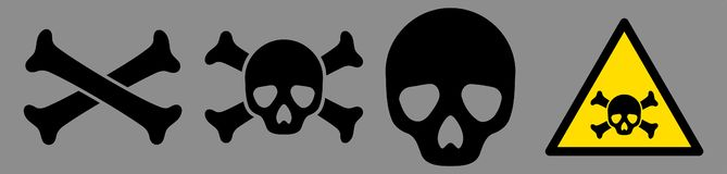 Toxic Icon Set royalty free illustration