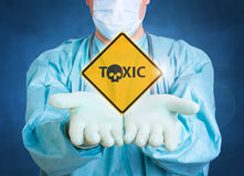 Toxic medical background with doctor Stock Photography