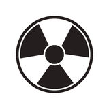 Toxic and nuclear icon Stock Images