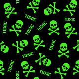Toxic pattern with skulls Royalty Free Stock Image