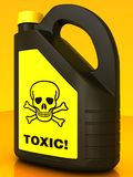 Toxic! Poison can Stock Images