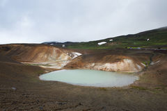 Toxic pool next to the famous Viti crater, Krafla, Iceland Royalty Free Stock Photo