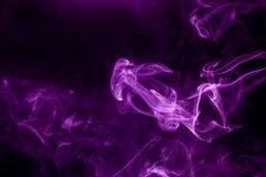 Toxic purple smoke. Abstract, art, backdrop, background, beautiful, black, color, colorful, concept, dark, dense, design, element, fire, fog, graphic, haze royalty free stock photos