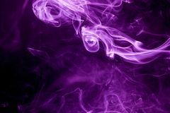 Toxic purple smoke. Abstract, art, backdrop, background, beautiful, black, color, colorful, concept, dark, dense, design, element, fire, fog, graphic, haze stock photography