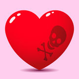 Toxic red heart Stock Image